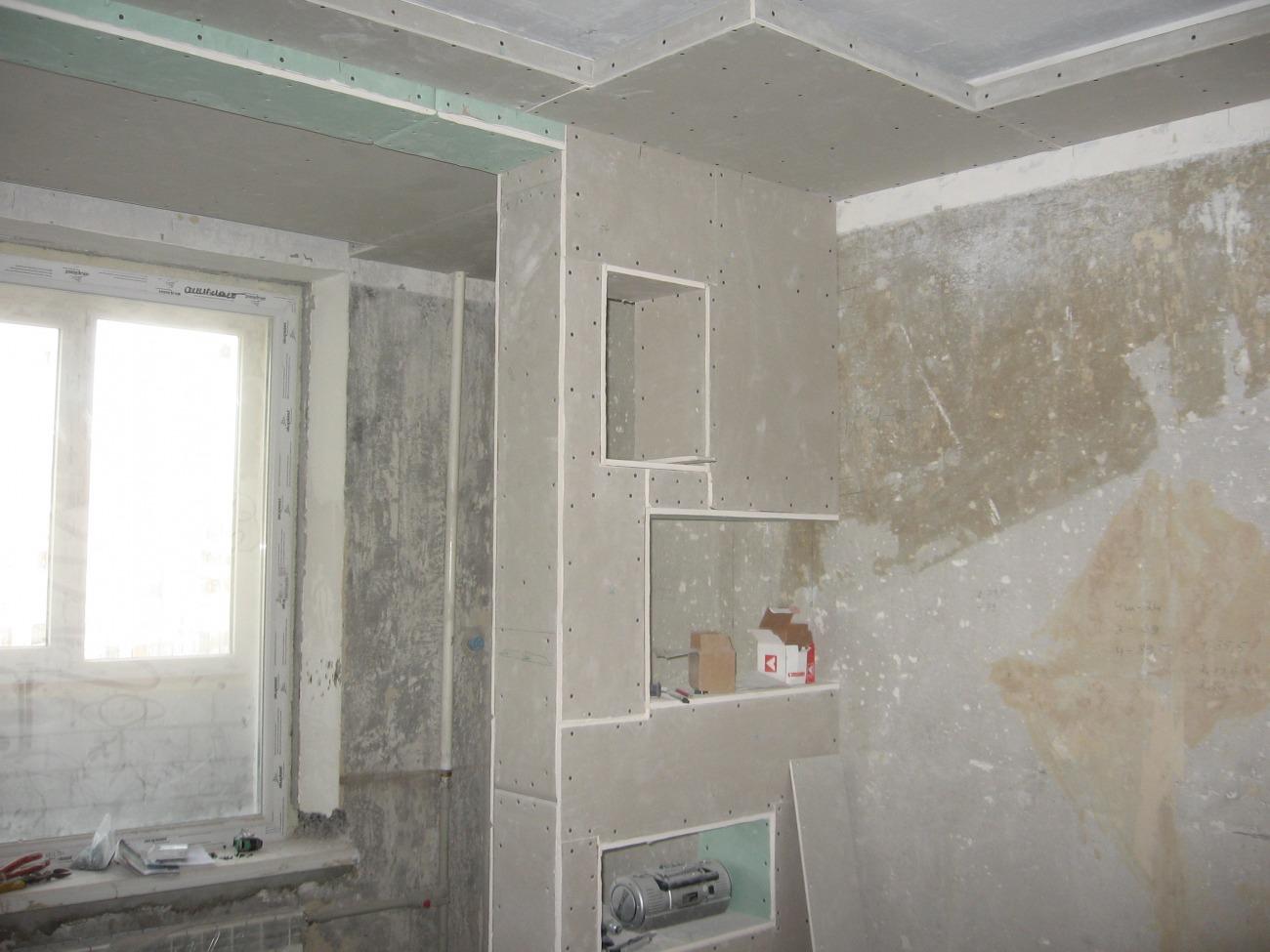 Как сделать стены из гипсокартона своими руками в квартире